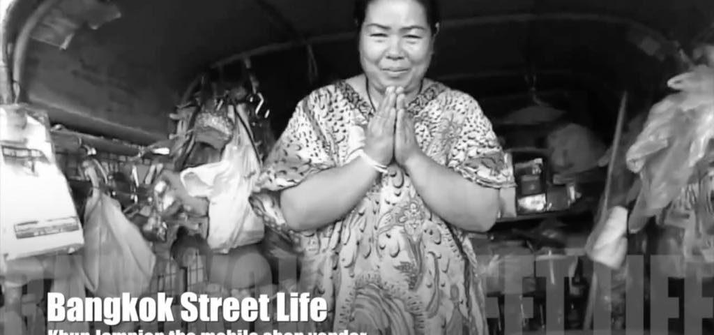 Mobile shop vendor in Bangkok
