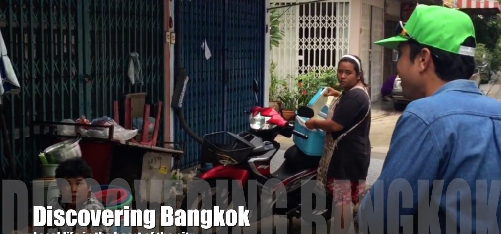 People in the local streets of Bangkok