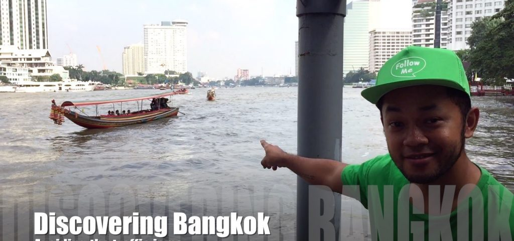 Catching the ferry on the river in Bangkok