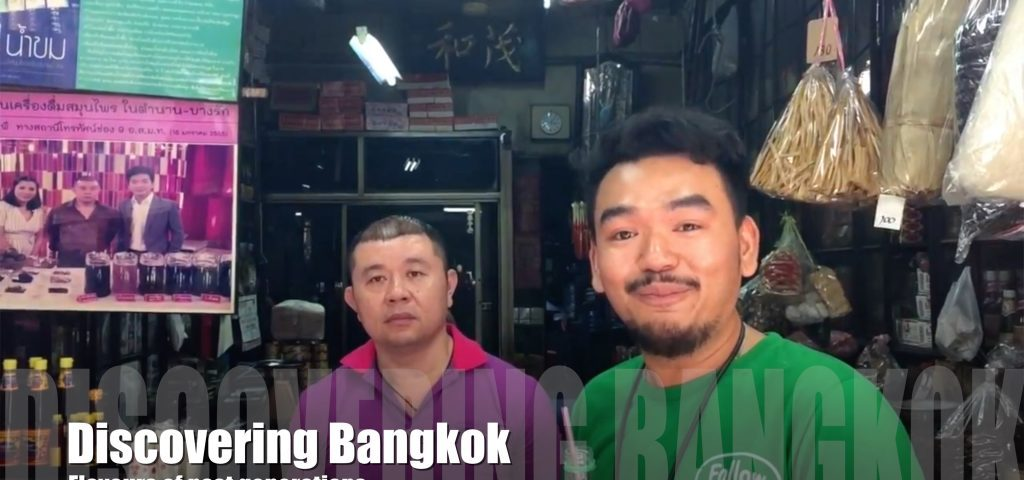 Talking to a local shop keeper in Bangkok