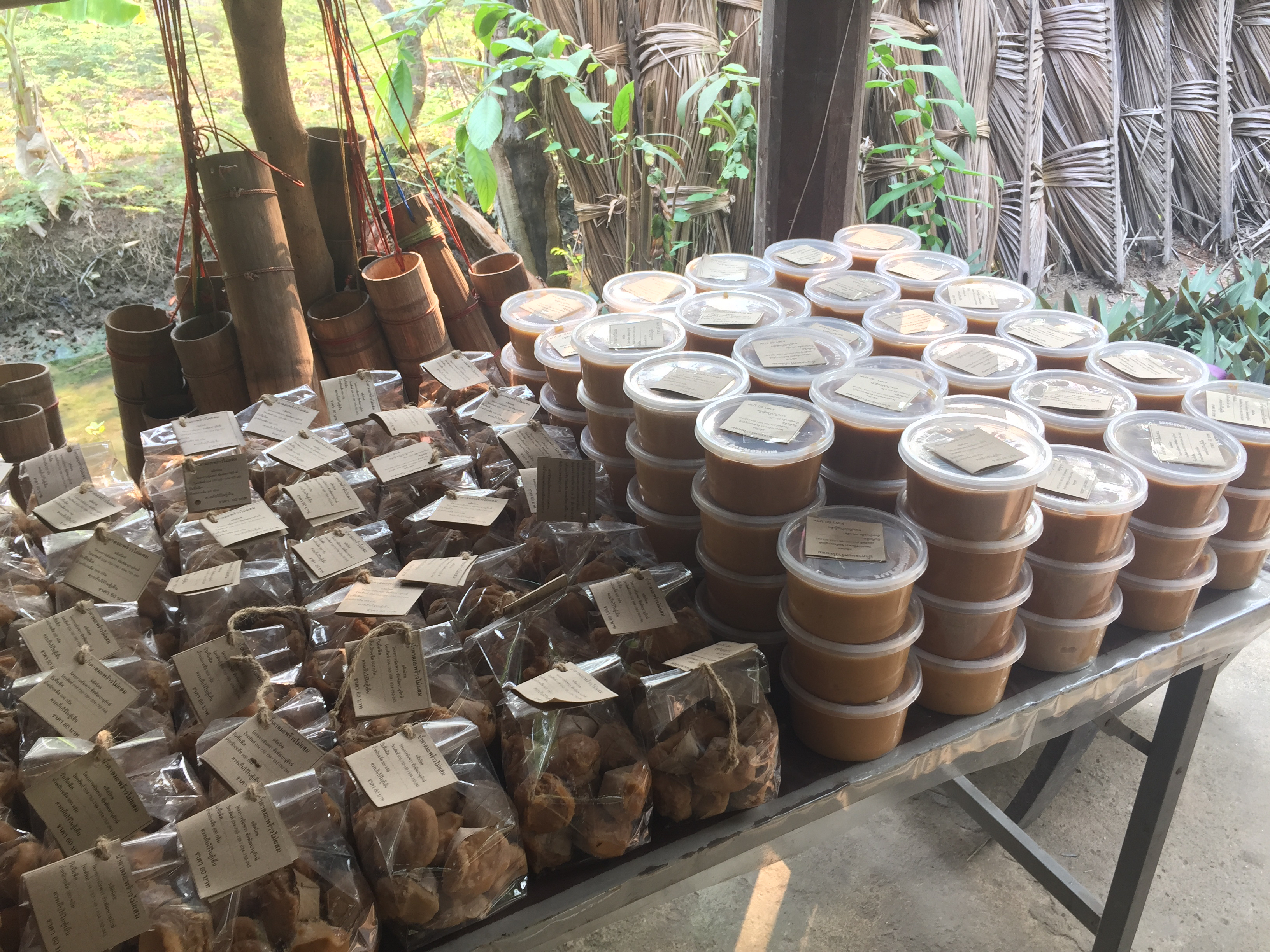 How coconut palm sugar is made in Thailand