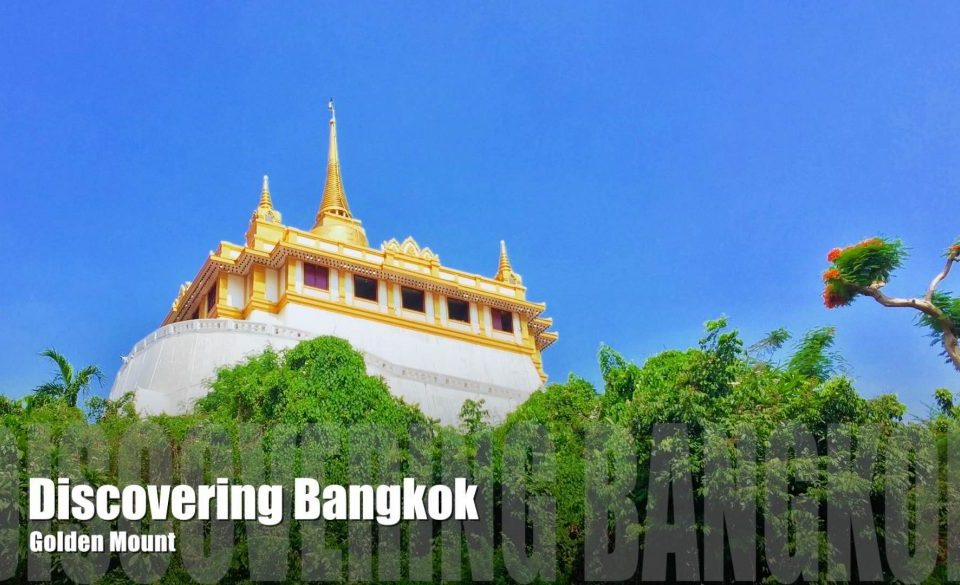 View look up to the Golden Mount in Bangkok